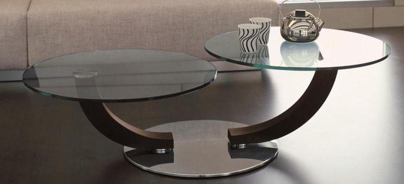 Tavolino Salotto Piani Girevoli Cobra Inox Cattelan : Vetreria poggio moncalieri tavolini cattelan cobra inox